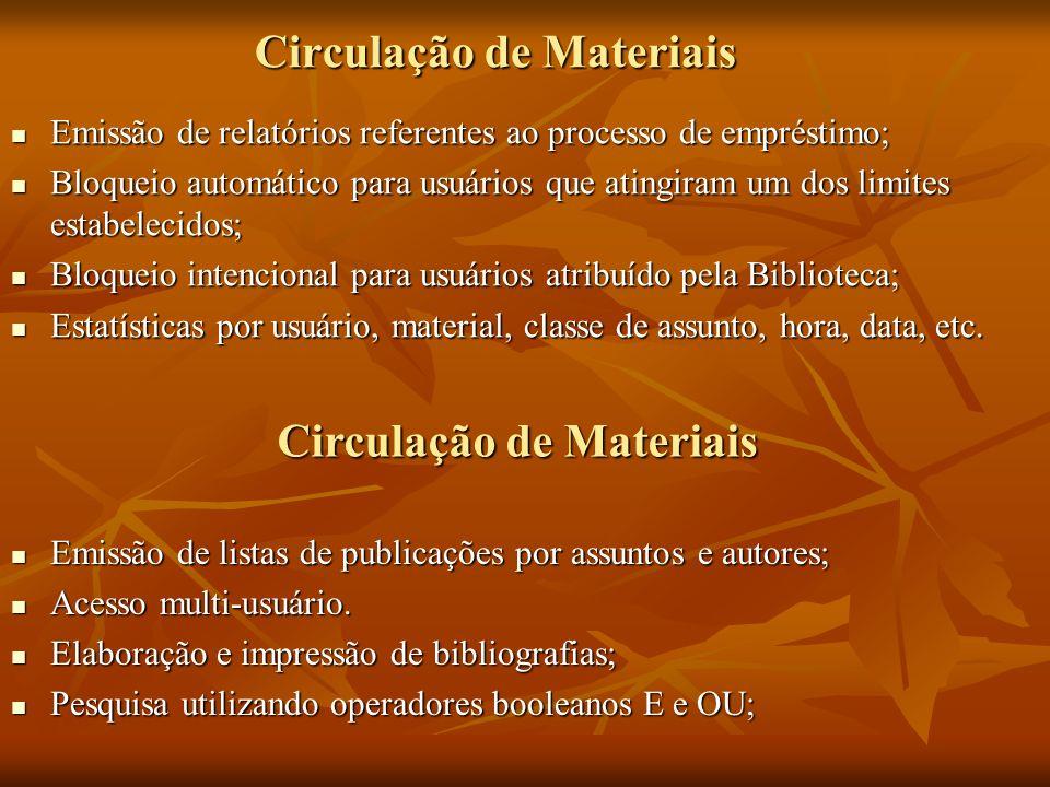 Circulação de Materiais