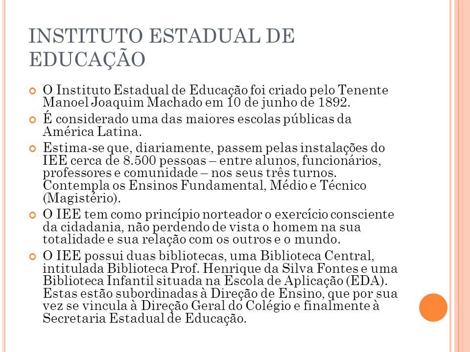 INSTITUTO ESTADUAL DE EDUCAÇÃO