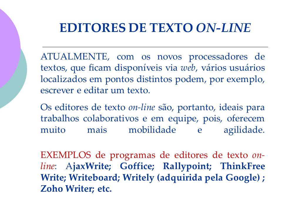 EDITORES DE TEXTO ON-LINE