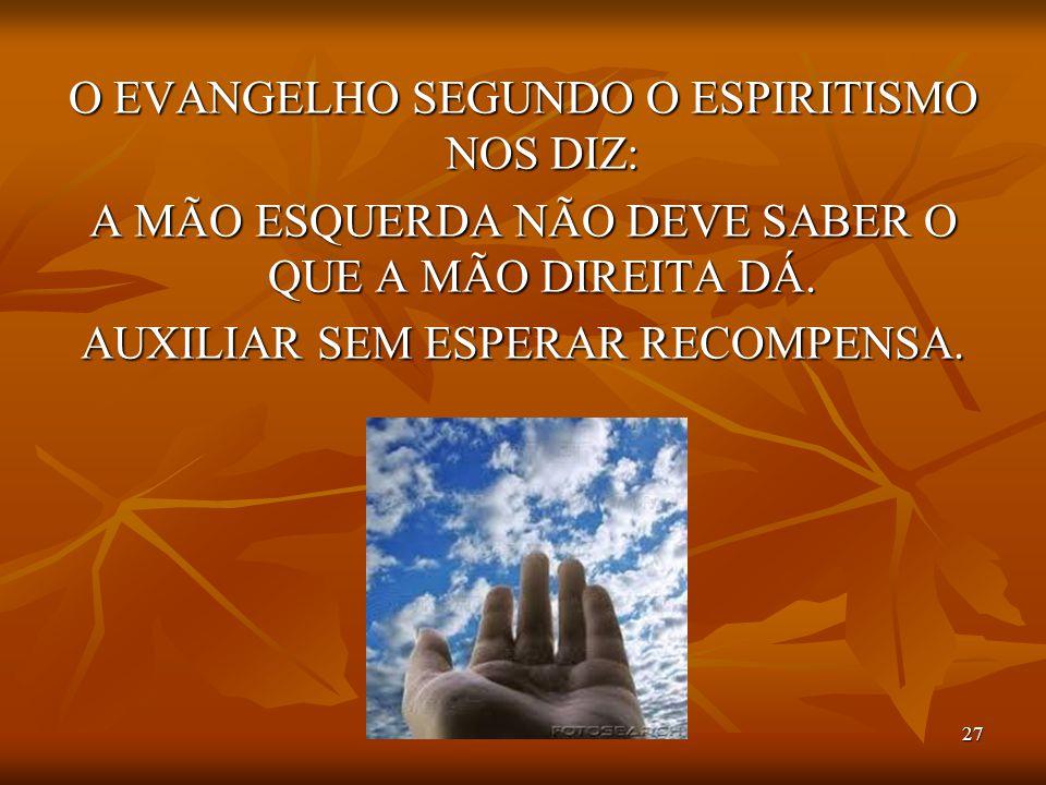 O EVANGELHO SEGUNDO O ESPIRITISMO NOS DIZ: