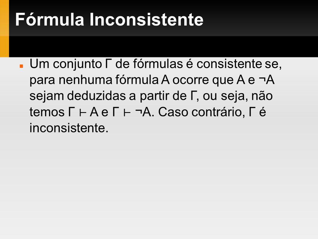 Fórmula Inconsistente