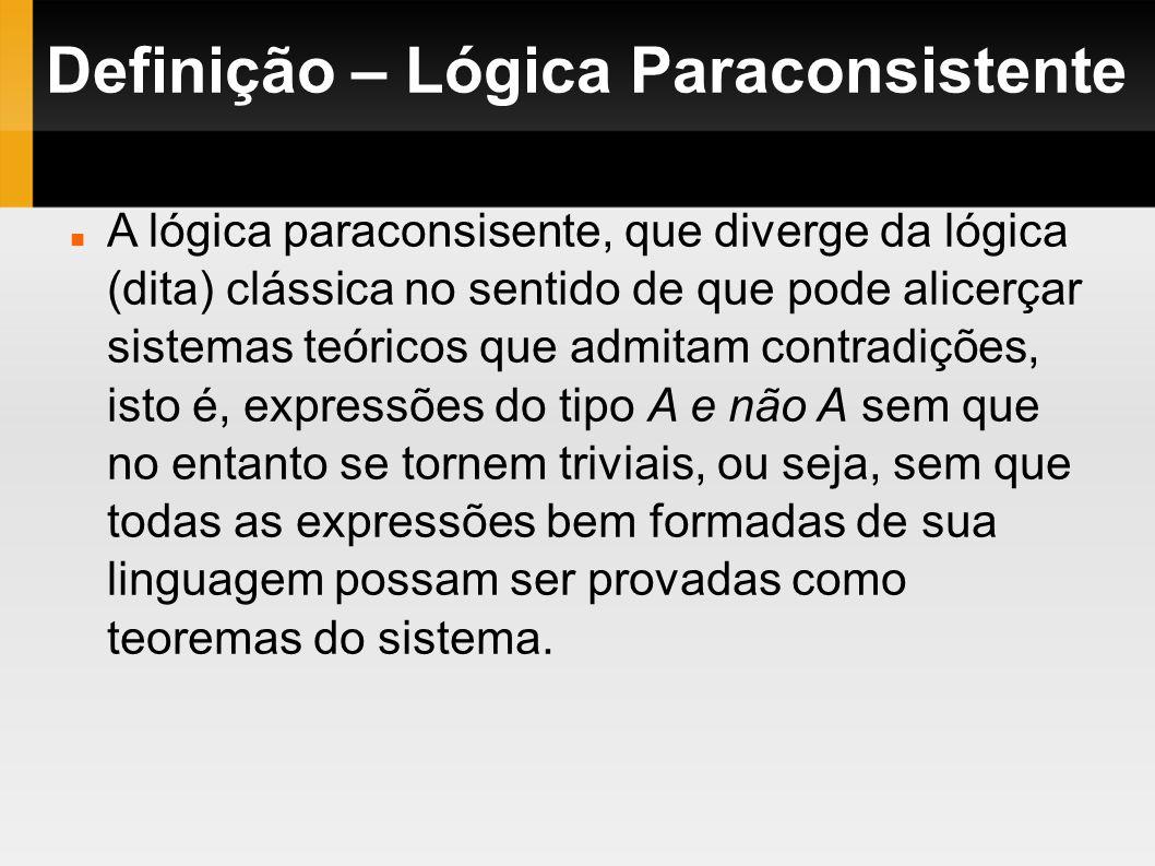Definição – Lógica Paraconsistente
