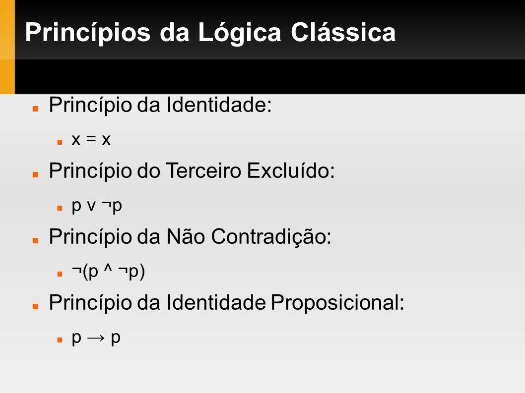 Princípios da Lógica Clássica