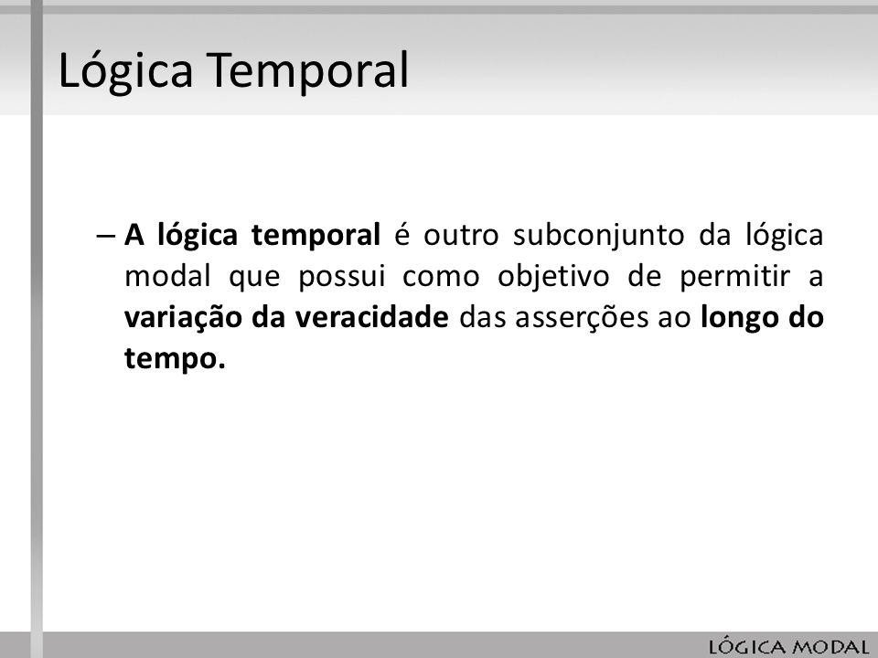 Lógica Temporal