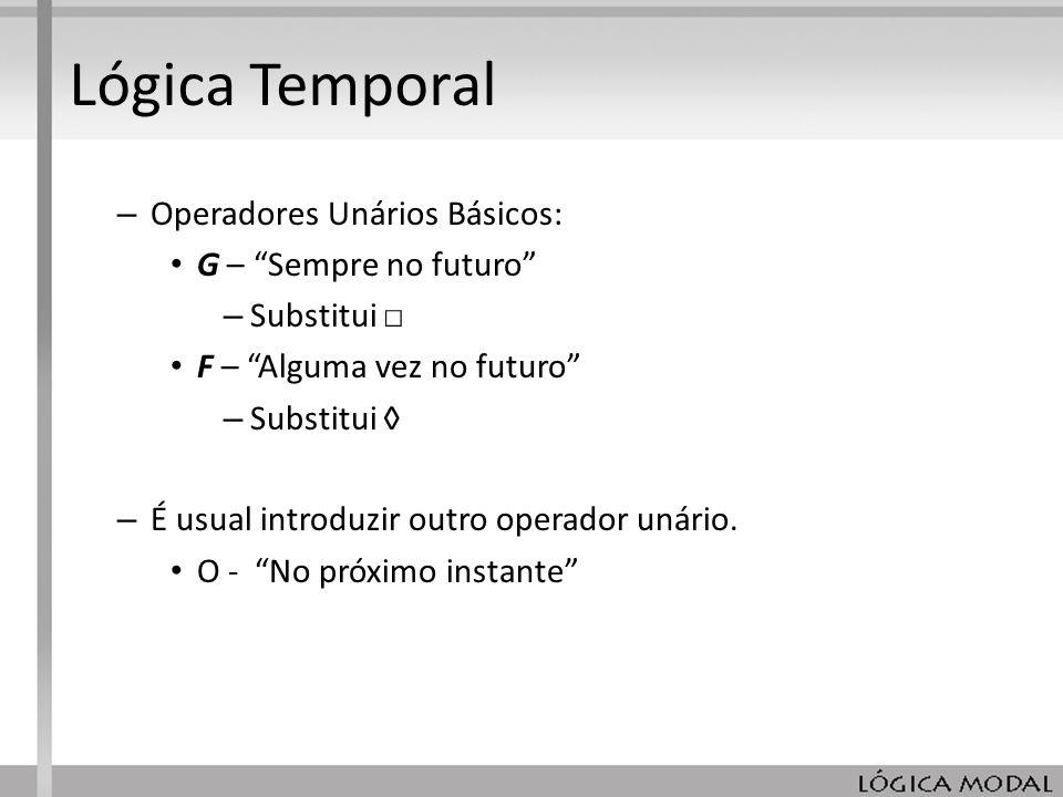 Lógica Temporal Operadores Unários Básicos: G – Sempre no futuro