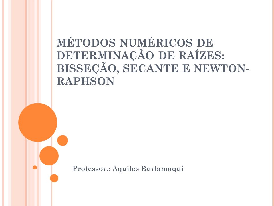 Professor.: Aquiles Burlamaqui
