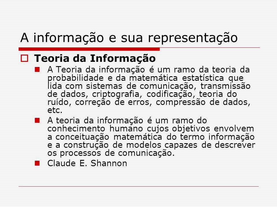 A informação e sua representação