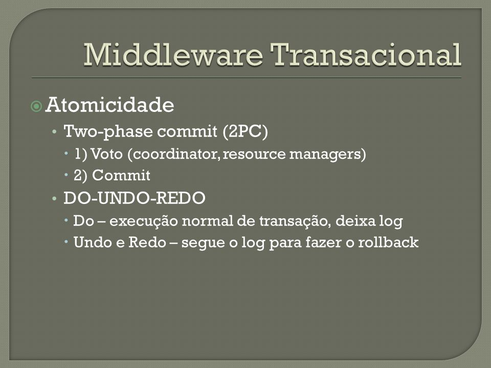 Middleware Transacional