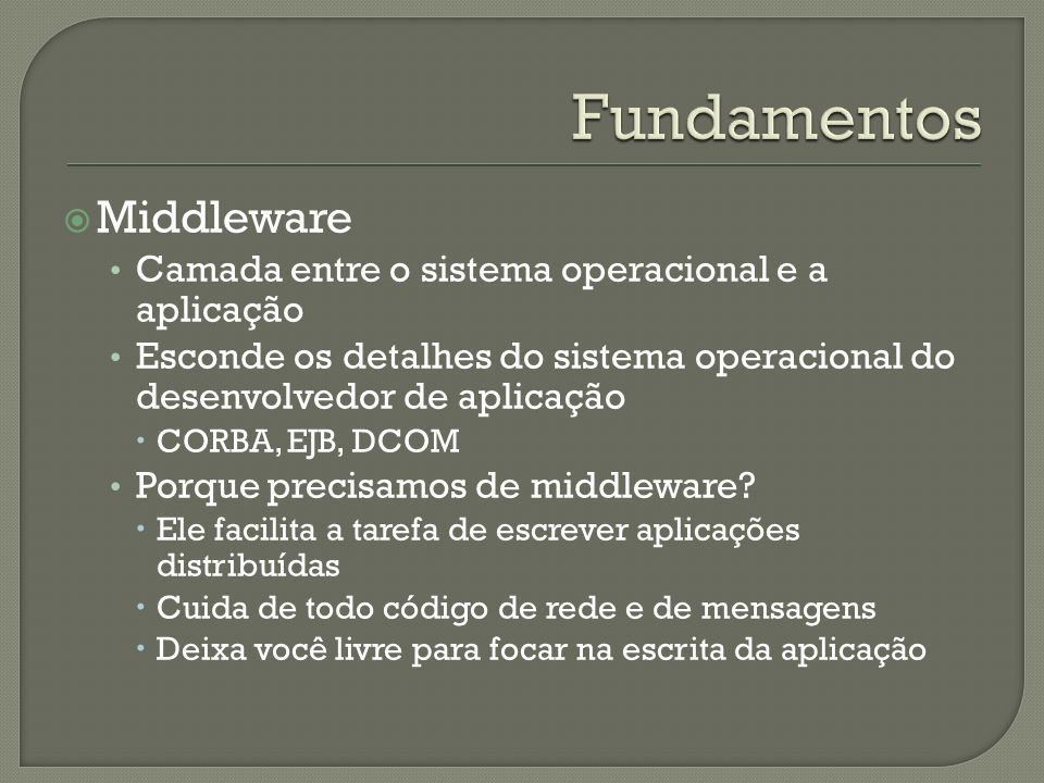 Fundamentos Middleware