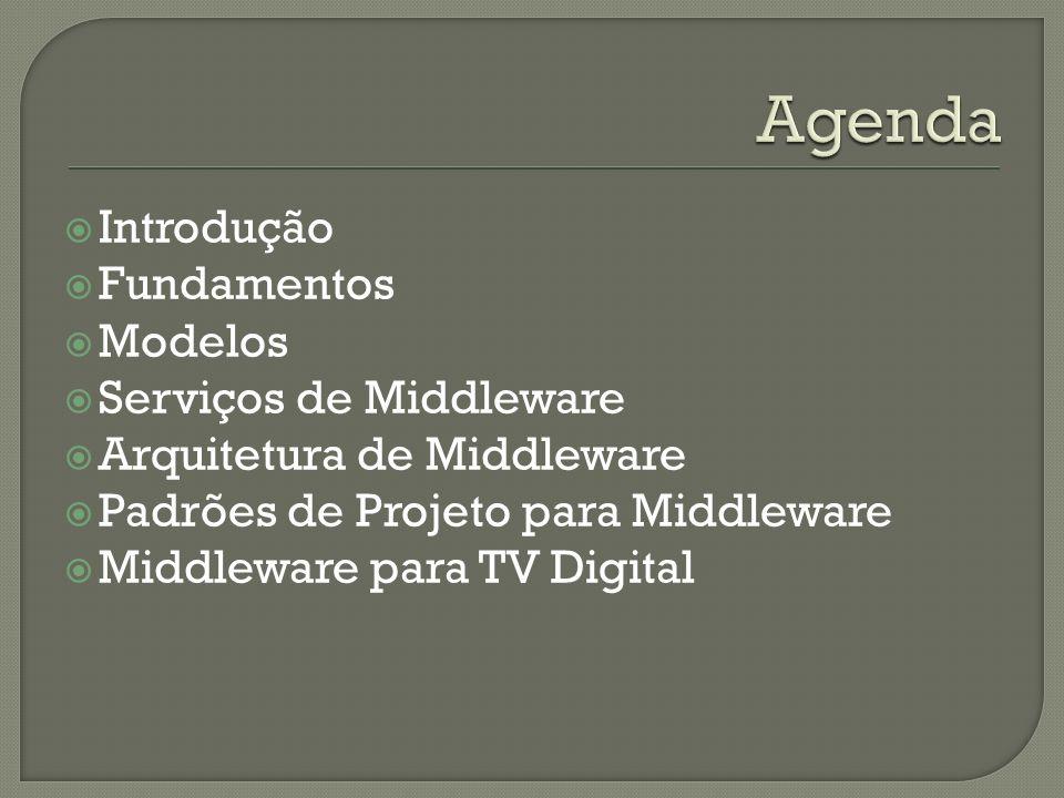 Agenda Introdução Fundamentos Modelos Serviços de Middleware
