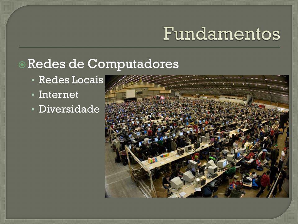 Fundamentos Redes de Computadores Redes Locais Internet Diversidade