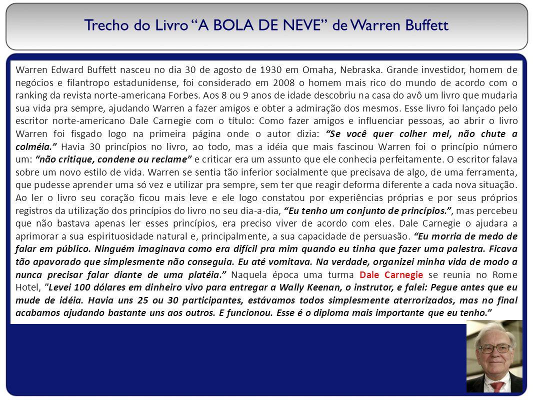 Trecho do Livro A BOLA DE NEVE de Warren Buffett