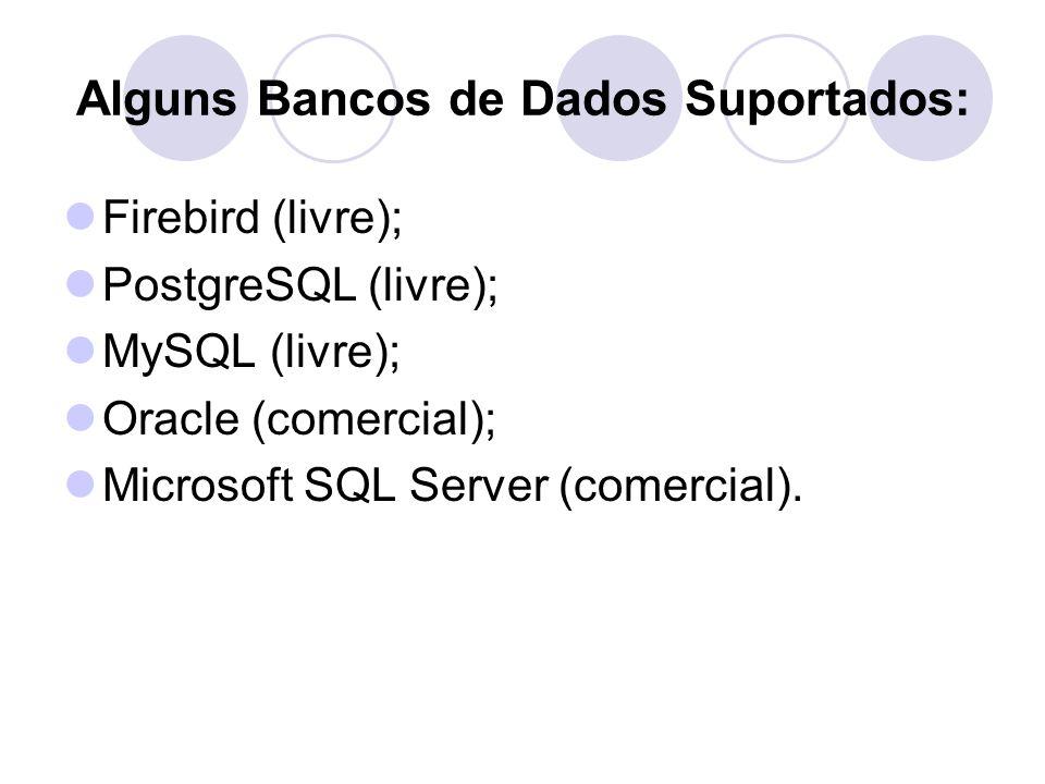 Alguns Bancos de Dados Suportados: