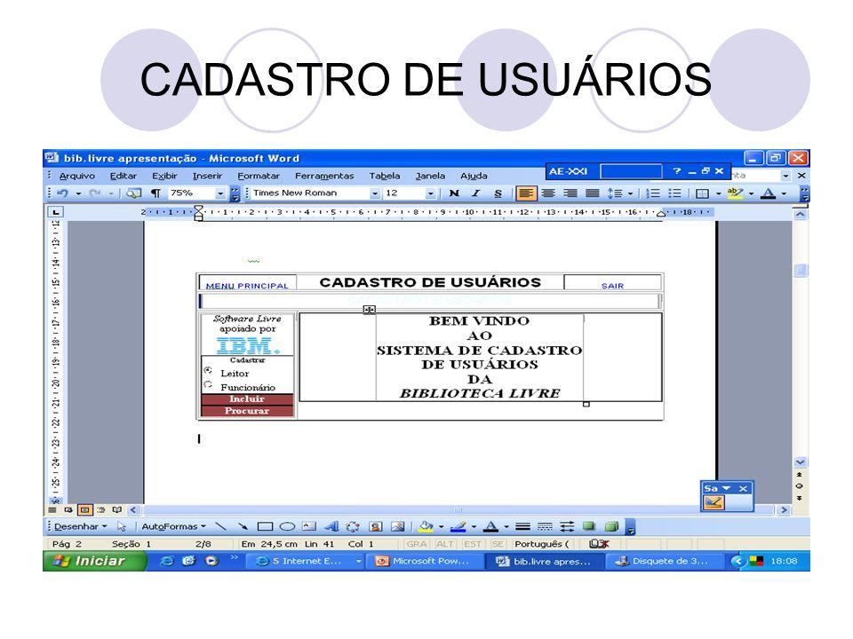 CADASTRO DE USUÁRIOS
