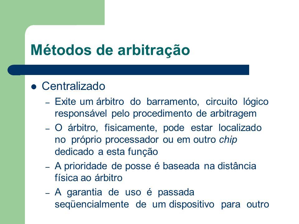Métodos de arbitração Centralizado