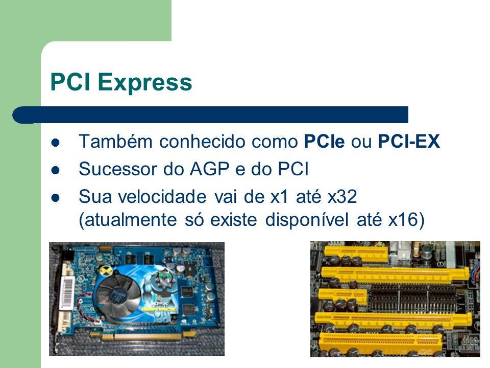 PCI Express Também conhecido como PCIe ou PCI-EX