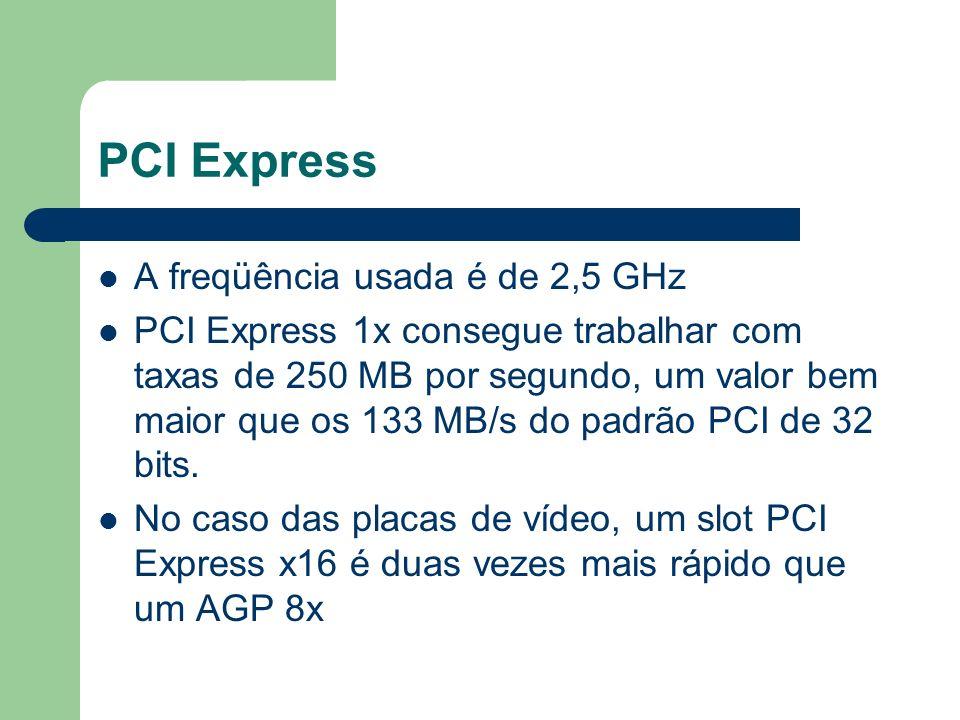 PCI Express A freqüência usada é de 2,5 GHz