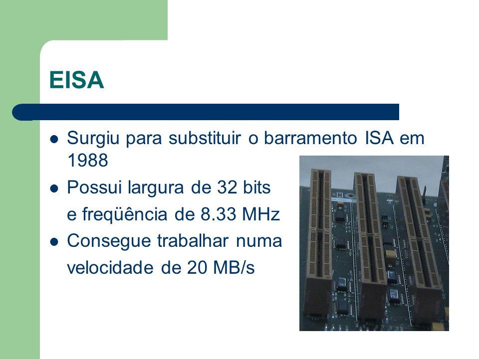 EISA Surgiu para substituir o barramento ISA em 1988