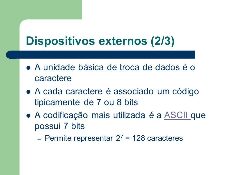 Dispositivos externos (2/3)