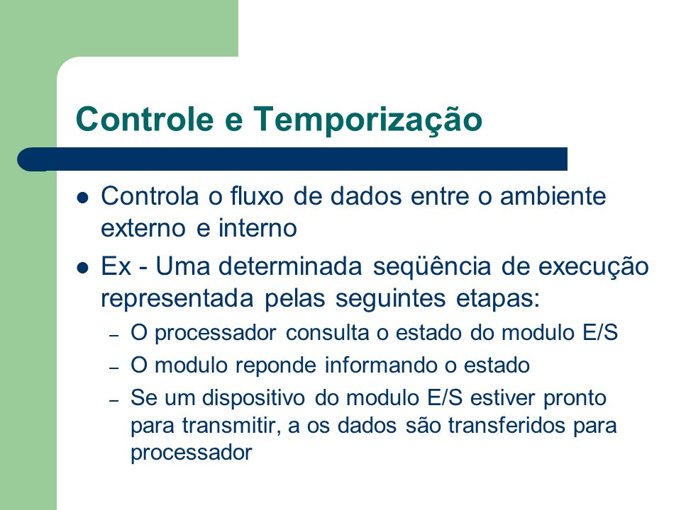 Controle e Temporização