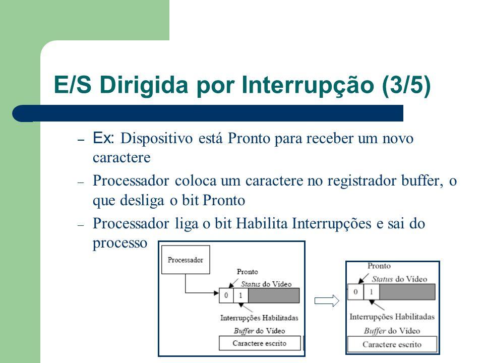 E/S Dirigida por Interrupção (3/5)