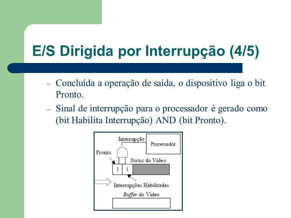 E/S Dirigida por Interrupção (4/5)