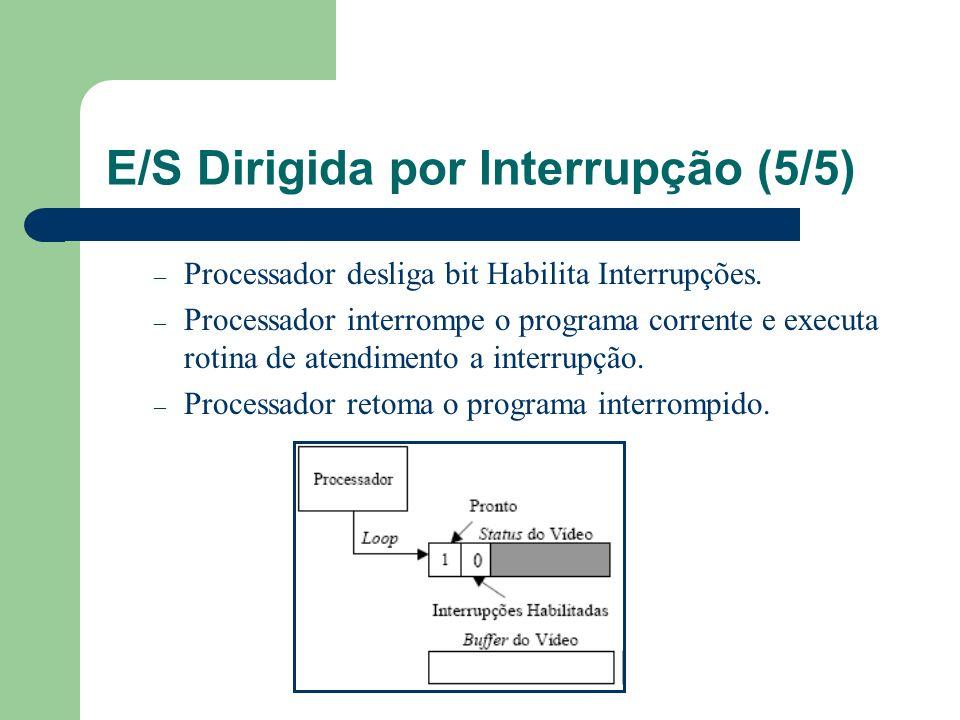 E/S Dirigida por Interrupção (5/5)