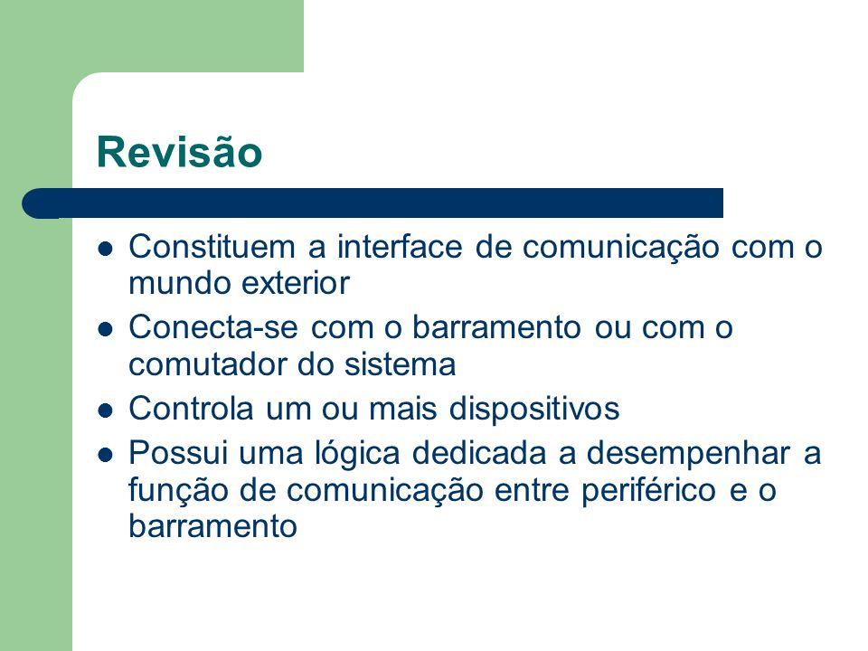 Revisão Constituem a interface de comunicação com o mundo exterior