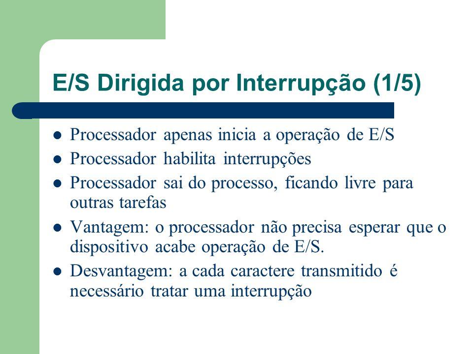 E/S Dirigida por Interrupção (1/5)