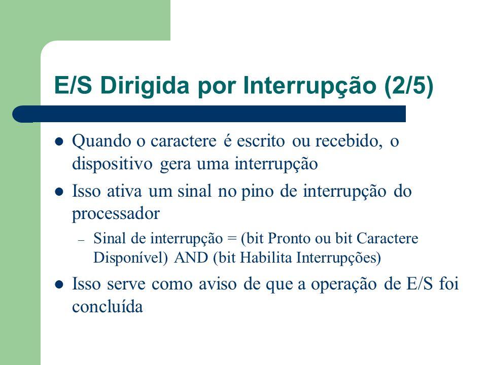 E/S Dirigida por Interrupção (2/5)