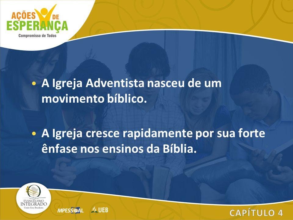 A Igreja Adventista nasceu de um movimento bíblico.