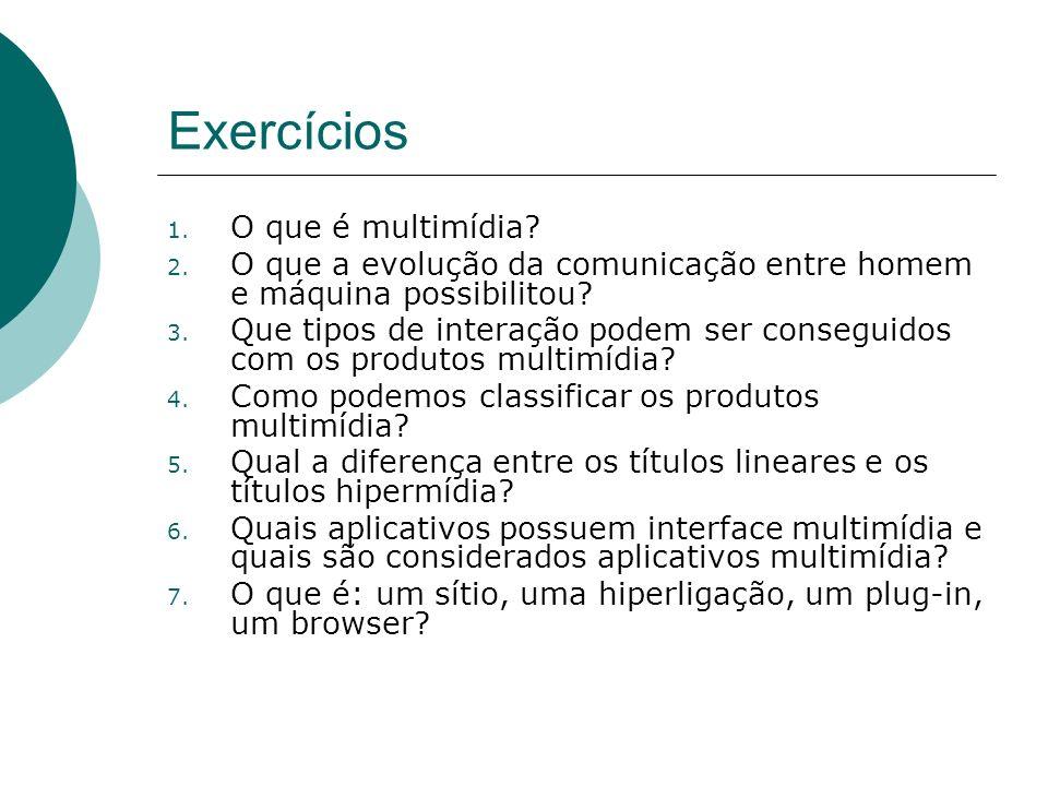 Exercícios O que é multimídia