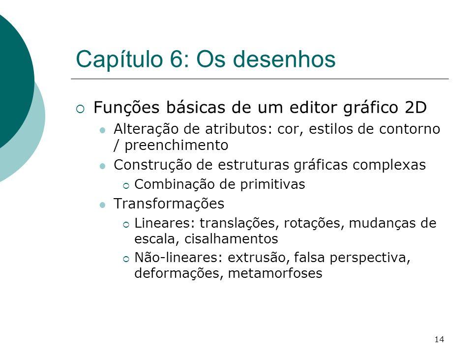 Capítulo 6: Os desenhos Funções básicas de um editor gráfico 2D