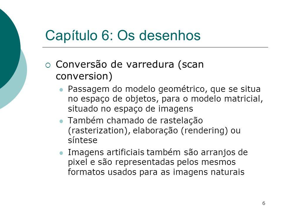 Capítulo 6: Os desenhos Conversão de varredura (scan conversion)