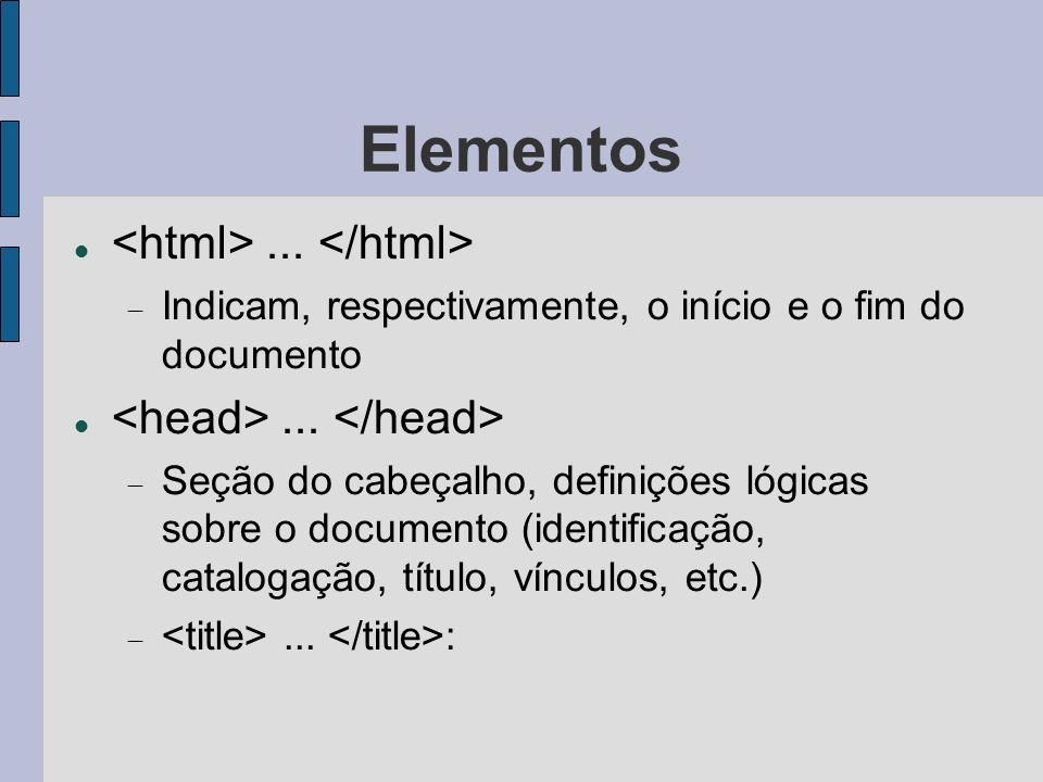 Elementos <html> ... </html>