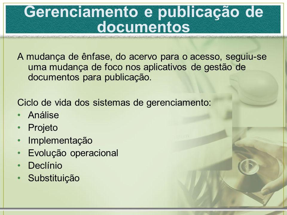 Gerenciamento e publicação de documentos