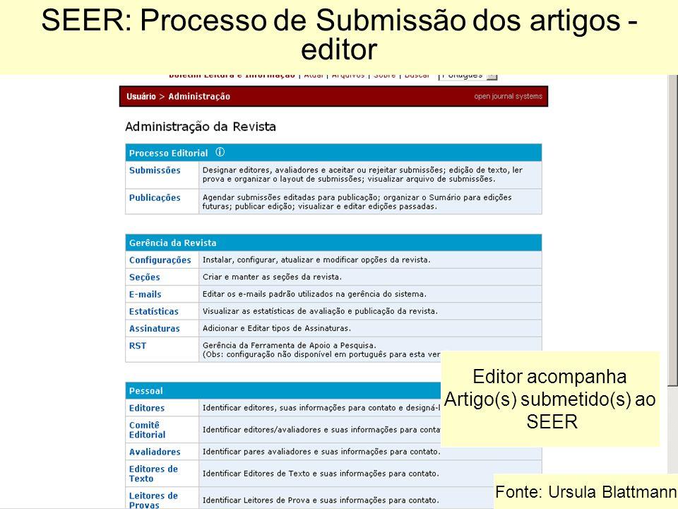 SEER: Processo de Submissão dos artigos - editor
