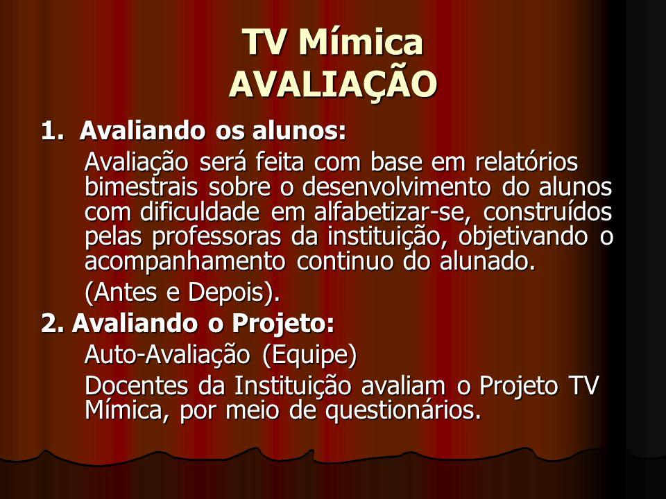 TV Mímica AVALIAÇÃO 1. Avaliando os alunos: