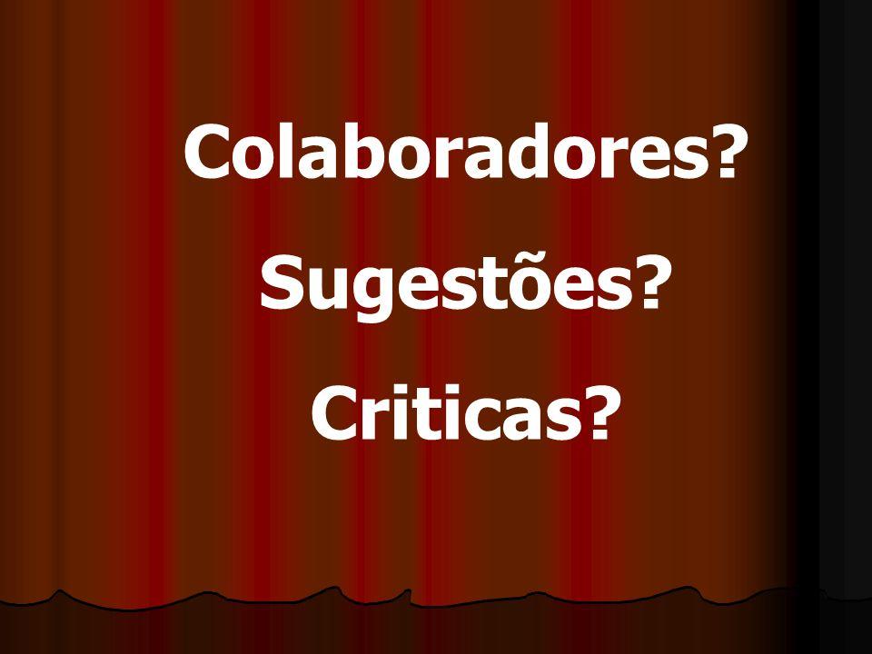 Colaboradores Sugestões Criticas