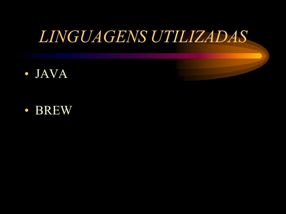 LINGUAGENS UTILIZADAS