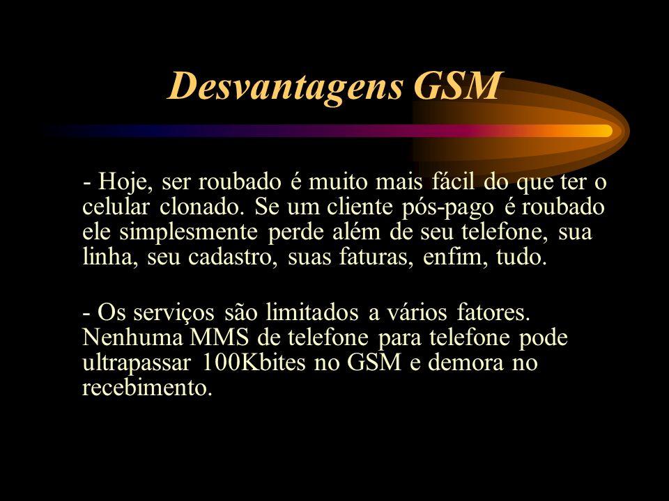 Desvantagens GSM