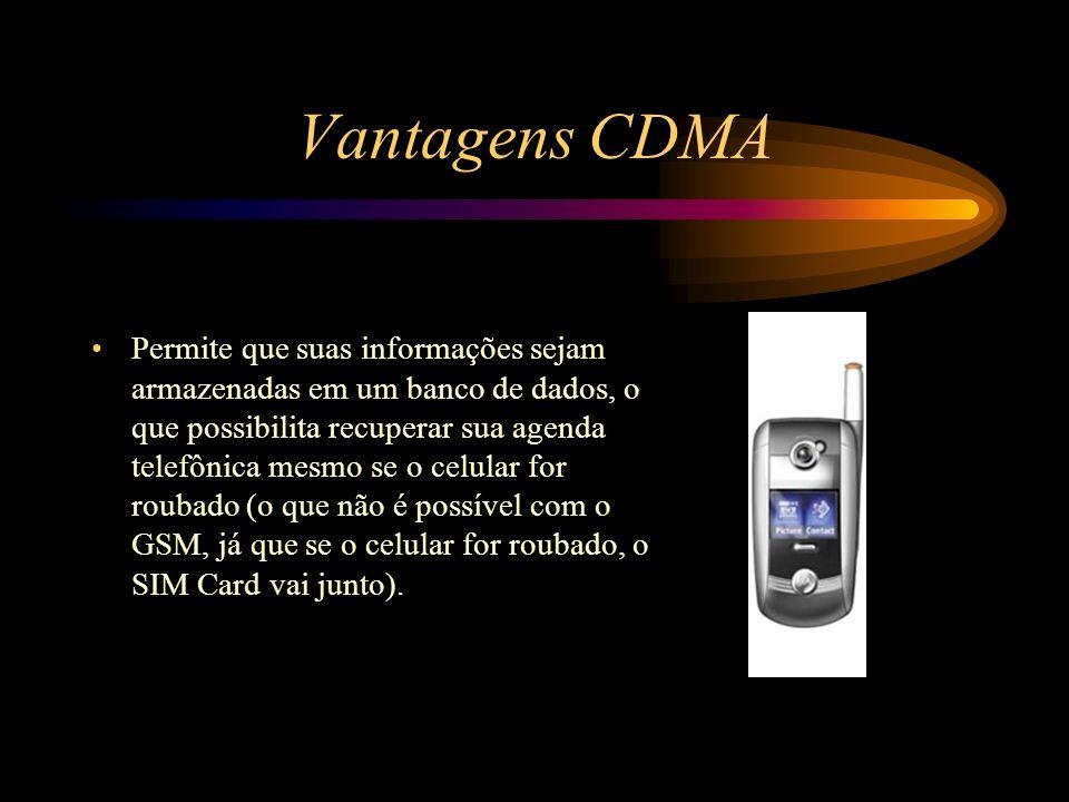 Vantagens CDMA