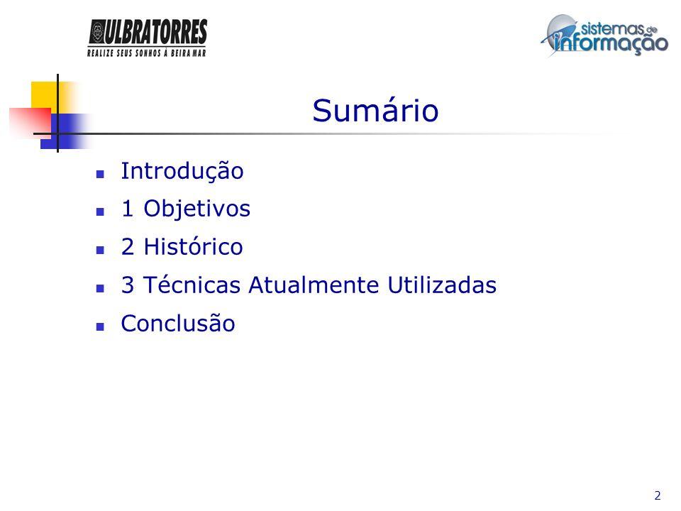 Sumário Introdução 1 Objetivos 2 Histórico