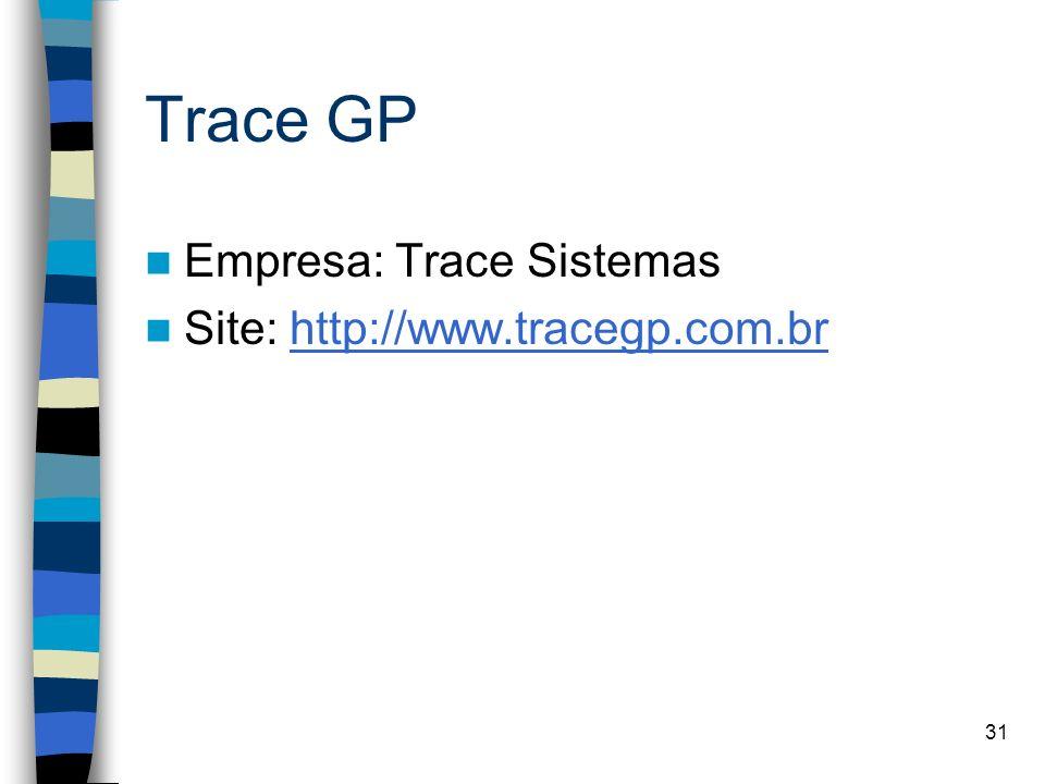 Trace GP Empresa: Trace Sistemas Site: http://www.tracegp.com.br