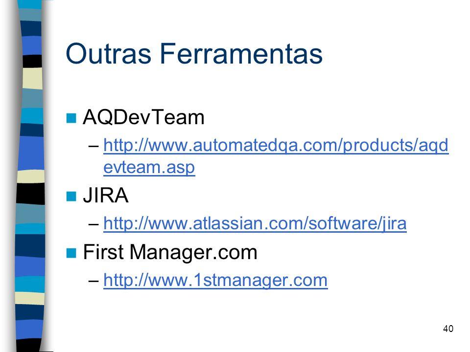 Outras Ferramentas AQDevTeam JIRA First Manager.com