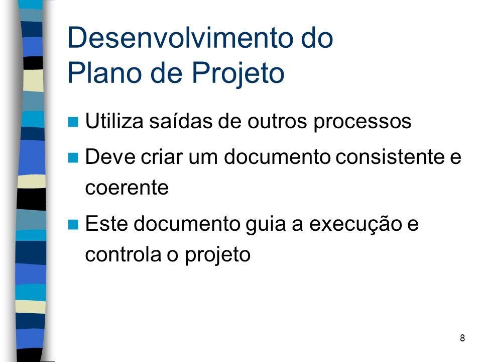 Desenvolvimento do Plano de Projeto