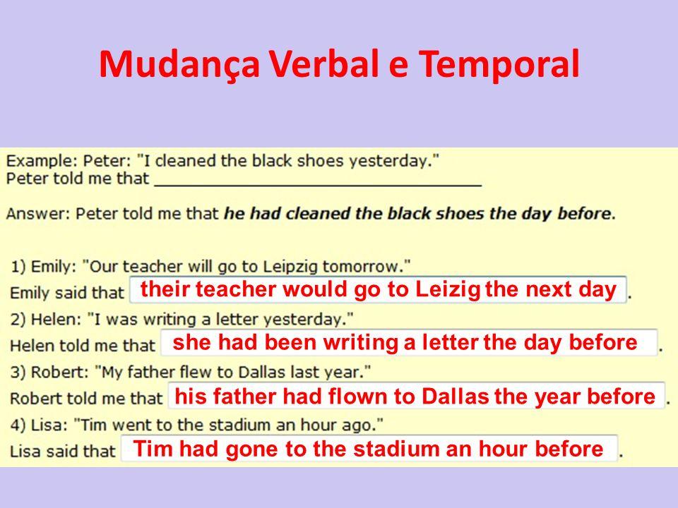Mudança Verbal e Temporal