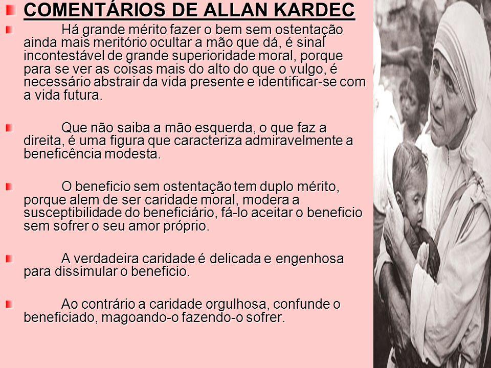 COMENTÁRIOS DE ALLAN KARDEC