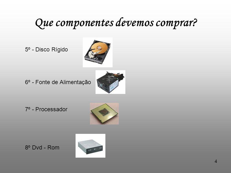 Que componentes devemos comprar