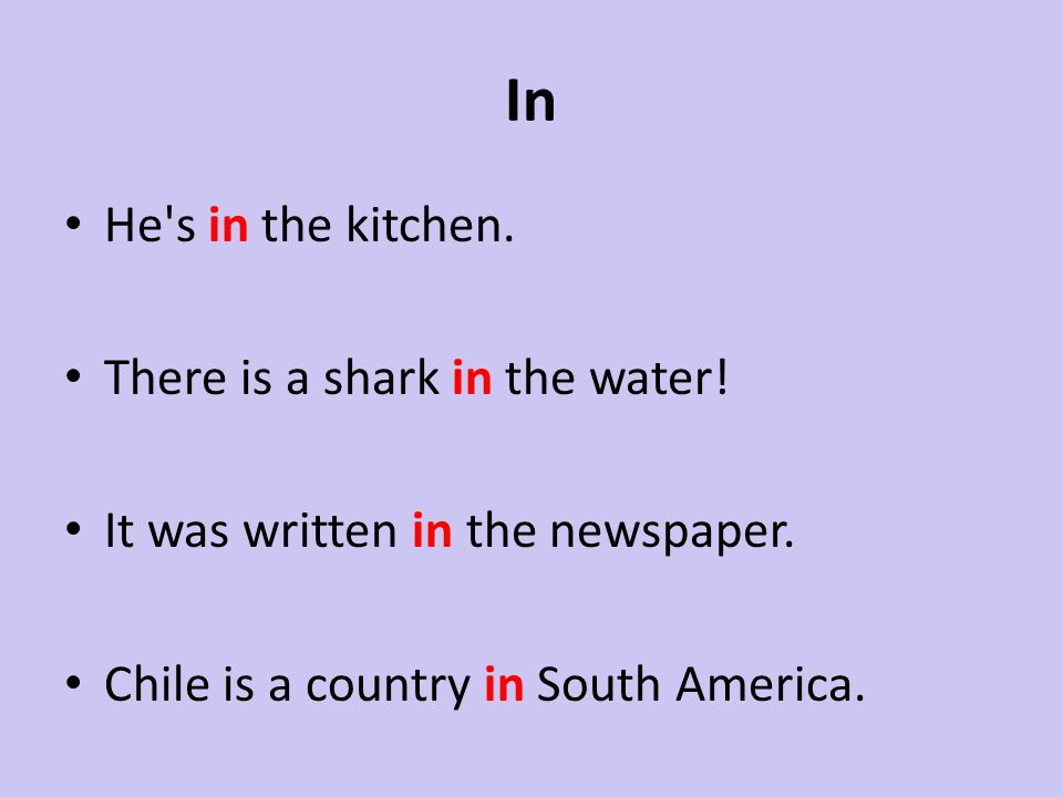 In He s in the kitchen. There is a shark in the water!